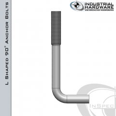 Fig.121 Hot Dip Galvanized L-Shaped Anchor Bolt 1/2-13 in. x 6 in. With 5/8 Radius