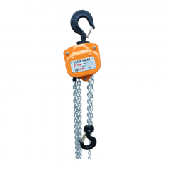 Bison CH50-20: 5 Ton Manual Chain Hoist 20 ft. Electro-Galvanized Chain