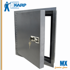 Karp MX 36 in. x 36 in. Exterior Wall Access Door-Best Rim Cylinder With Night Latch From Stainless Steel