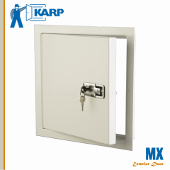 2F-MX1212-LTK,Karp MX 12 in. x 12 in. Exterior Wall Access Door-Lift And Turn Compression Latch With Key,INSULATED EXTERIOR ACCESS DOOR