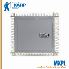 Karp MXPL 18 in. x 18 in. Exterior Wall Access Door For Plaster-Karp Rim Cylinder With Night Latch From Stainless Steel