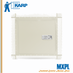 2F-MXPL1212-LTK,Karp MXPL 12 in. x 12 in. Exterior Wall Access Door For Plaster-Lift And Turn Compression Latch With Key