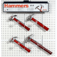Plumb #PF3 Display: Hickory Handle Curve Claw and Rip Claw Hammers