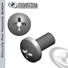 Stainless Phillips Pan Head Vented Machine Screw: 8-32 x 1-1/4