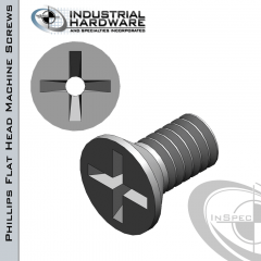 Stainless Phillips Flat Head Vented Machine Screw: 1/4-20 x 1-1/2