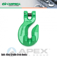 Campbell #5726415 9/32 in. - 5/16 in. Quik Alloy Cradle Grab Hook - Grade 100 - Painted Green