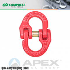 Campbell #5771615 1 in. Quik Alloy Coupling Link - Grade 80 - Painted Red