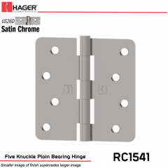 Hager 1541 US26D Full Mortise Hinge Stock No 030227