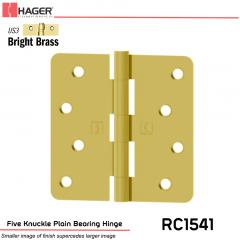 Hager 1541 US3 Full Mortise Hinge Stock No 033004