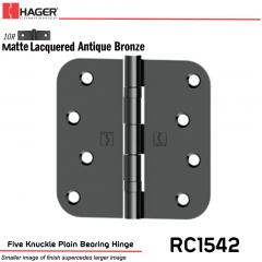 Hager 1542 US10R Full Mortise Hinge Stock No 036910