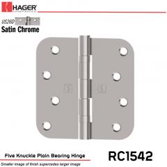Hager 1542 US26D Full Mortise Hinge Stock No 033050