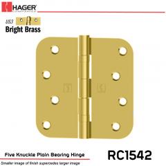 Hager 1542 US3 Full Mortise Hinge Stock No 033052