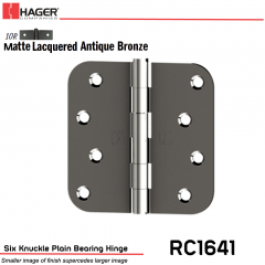 Hager 1641 US10R Full Mortise Hinge Stock No 042115