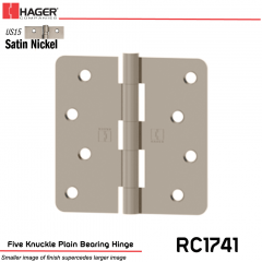 Hager 1741 US15 Full Mortise Hinge Stock No 039595