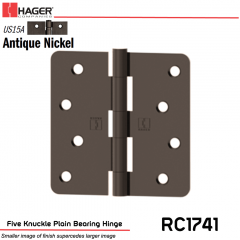 Hager 1741 US15A Full Mortise Hinge Stock No 032882