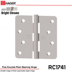 Hager 1741 US26 Full Mortise Hinge Stock No 033769