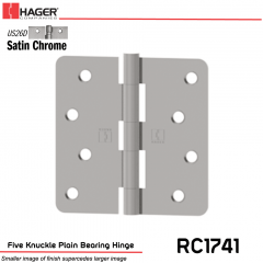 Hager 1741 US26D Full Mortise Hinge Stock No 032880