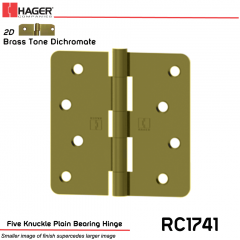 Hager 1741 US2D Full Mortise Hinge Stock No 029713