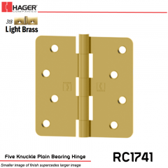 Hager 1741 US3LB Full Mortise Hinge Stock No 029475