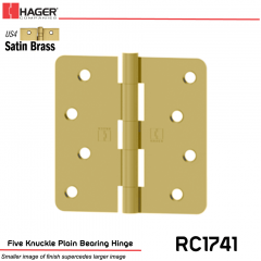 Hager 1741 US4 Full Mortise Hinge Stock No 029716