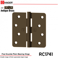 Hager 1741 US5 Full Mortise Hinge Stock No 033603