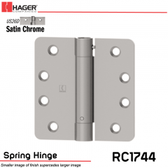 Hager 1744 US26D Full Mortise Hinge Stock No 169911