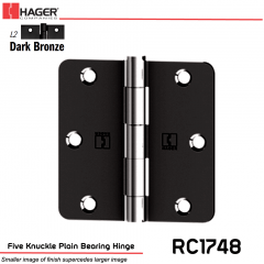 Hager 1748 L2 Full Mortise Hinge Stock No 030704