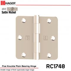 Hager 1748 US15 Full Mortise Hinge Stock No 016936