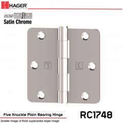 Hager 1748 US26D Full Mortise Hinge Stock No 030695