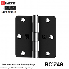 Hager 1749 L2 Full Mortise Hinge Stock No 033531