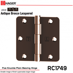 Hager 1749 US10A Full Mortise Hinge Stock No 032887