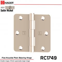 Hager 1749 US26 Full Mortise Hinge Stock No 033524