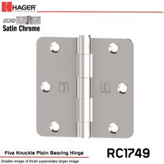 Hager 1749 US26D Full Mortise Hinge Stock No 033785