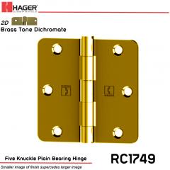 Hager 1749 US2D Full Mortise Hinge Stock No 029731