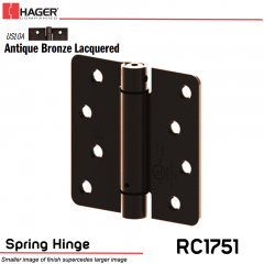 Hager 1751 US10A Full Mortise Hinge Stock No 170223