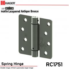 Hager 1751 US10R Full Mortise Hinge Stock No 170224