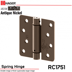 Hager 1751 US15A Full Mortise Hinge Stock No 170237