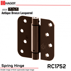 Hager 1752 US10A Full Mortise Hinge Stock No 170430