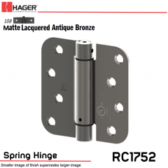 Hager 1752 US10R Full Mortise Hinge Stock No 170451