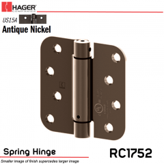 Hager 1752 US15A Full Mortise Hinge Stock No 170479