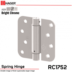 Hager 1752 US26 Full Mortise Hinge Stock No 170454