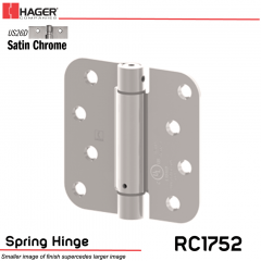 Hager 1752 US26D Full Mortise Hinge Stock No 170455