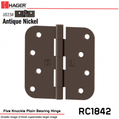 Hager 1842 US15A Full Mortise Hinge Stock No 032903
