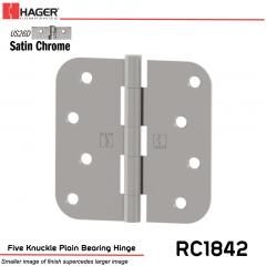 Hager 1842 US26 Full Mortise Hinge Stock No 032902