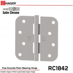 Hager 1842 US26D Full Mortise Hinge Stock No 033567