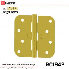 Hager 1842 US3 Full Mortise Hinge Stock No 033569