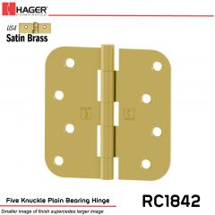 Hager 1842 US4 Full Mortise Hinge Stock No 029778