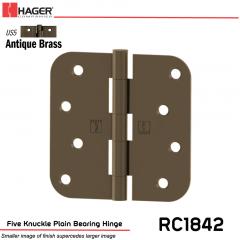 Hager 1842 US5 Full Mortise Hinge Stock No 033803