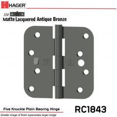 Hager 1843 US10R Full Mortise Hinge Stock No 042014