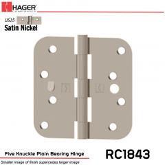 Hager 1843 US15 Full Mortise Hinge Stock No 081894